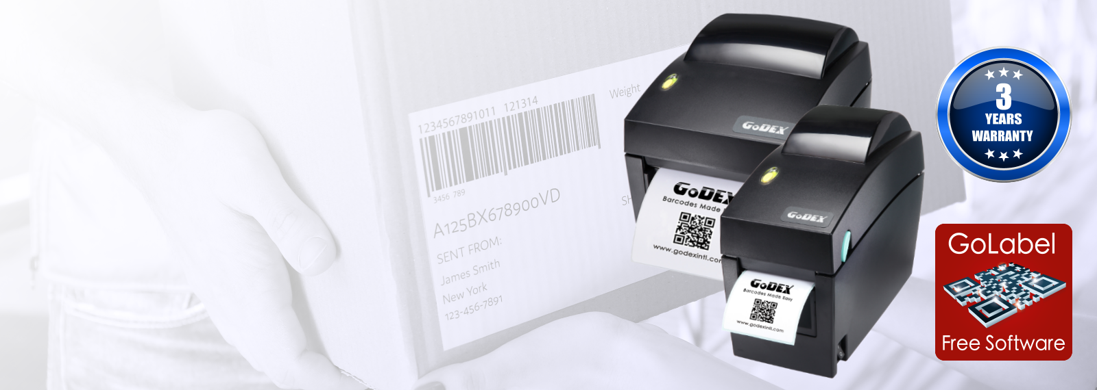 GoDEX DT2x and DT4x label printer