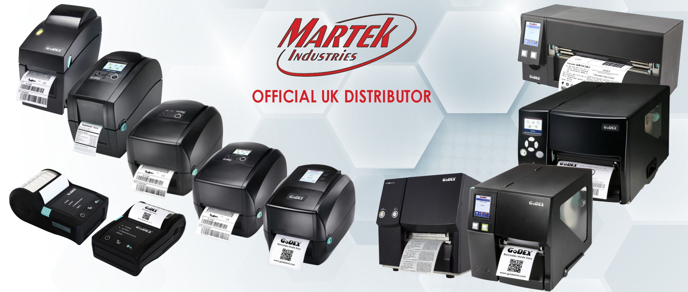 Godex thermal transfer label printers